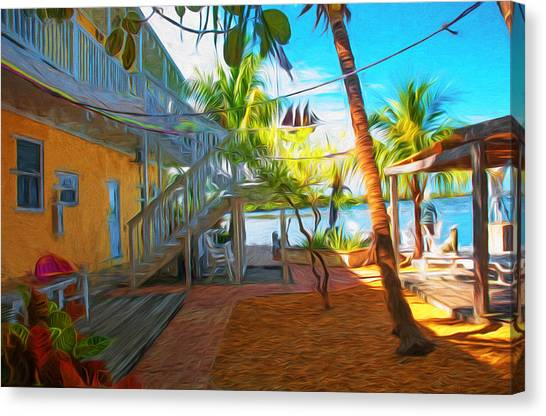 Sunset Villas Patio Canvas Print