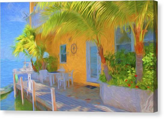 Sunset Villas Waterfront Apartment Canvas Print