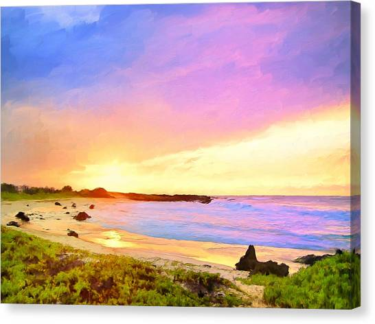 Mauna Loa Canvas Print - Sunset Walk by Dominic Piperata