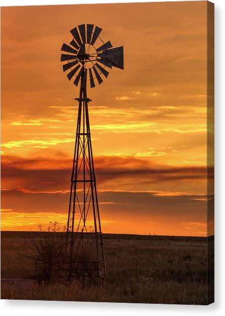 Sunset Windmill 01 Canvas Print