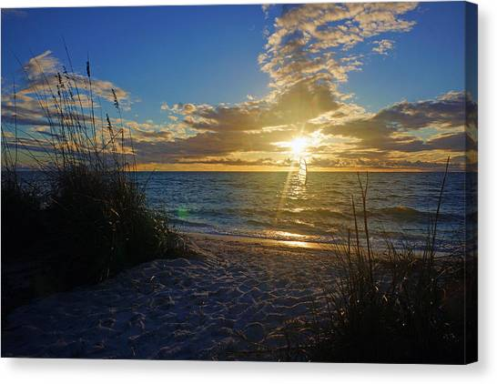 Sunset Windsurfer Canvas Print