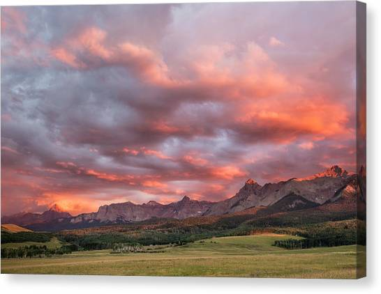 Sunset With Rain Clouds Canvas Print