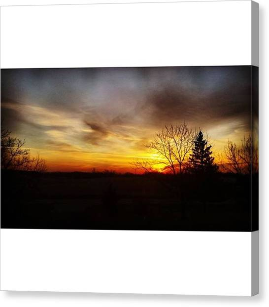 Green Camo Canvas Print - Rise And Shine by Mnwx Watcher