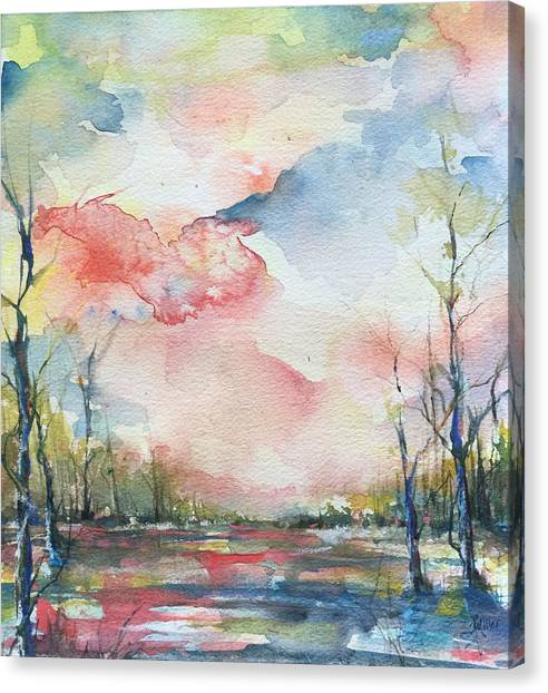 Sunsets Grace On The River Canvas Print