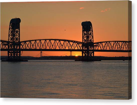 Sunset's Last Light Bridges Over Jamaica Bay Canvas Print