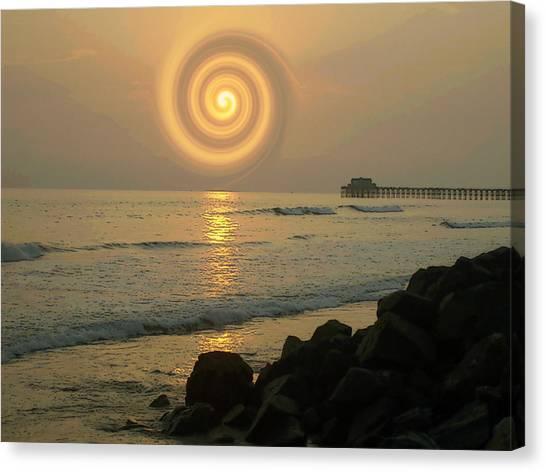 Sunsetswirl Canvas Print