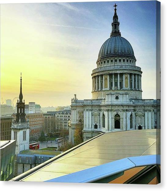 London Skyline Canvas Print - Sunsetting Over London, Love This by Paul Stayt