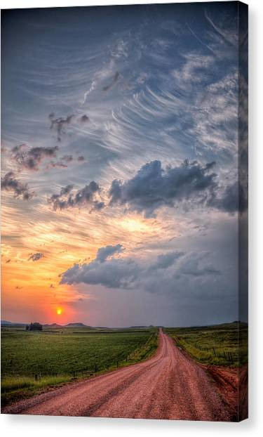 Sunshine And Storm Clouds Canvas Print