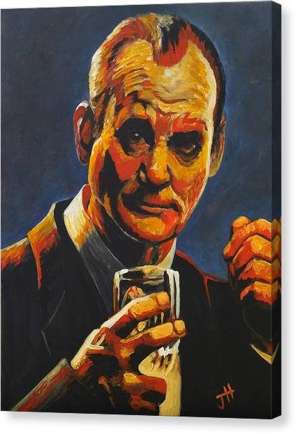 Canvas Print featuring the painting Suntory Time by Jennifer Hotai