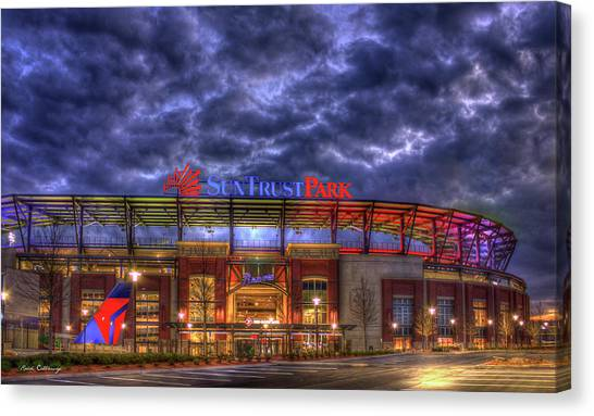 Suntrust Park Unfinished Atlanta Braves Baseball Art Canvas Print