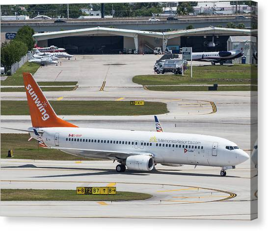 Sunwing Airlines Canvas Print