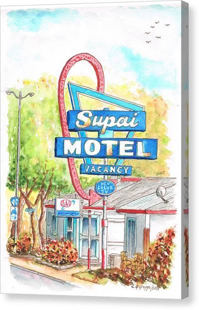 Supai Motel In Route 66, Seliman, Arizona Canvas Print