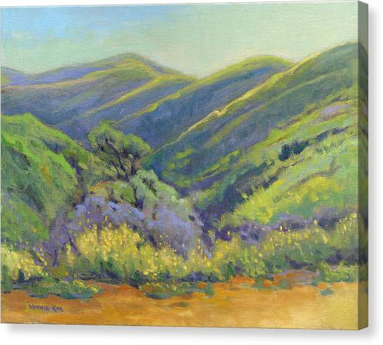 Canvas Print featuring the painting Super Bloom 2 by Konnie Kim
