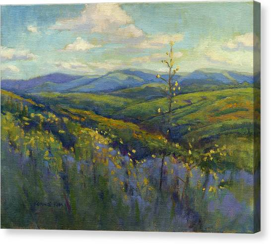 Canvas Print featuring the painting Super Bloom 4 by Konnie Kim
