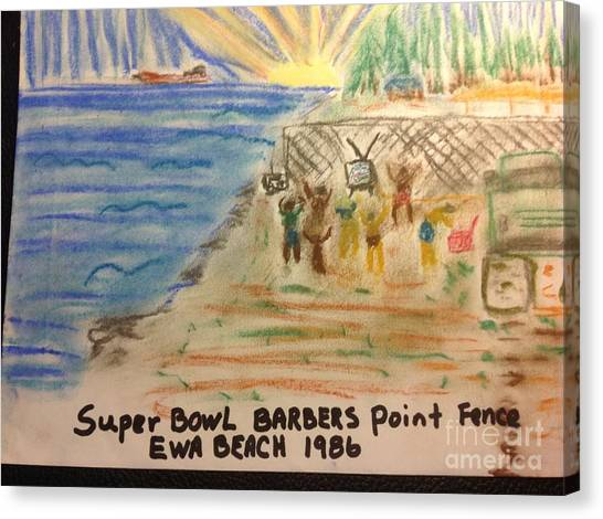University Of Hawaii Canvas Print - Super Bowl Ewa Beach by Willard Hashimoto