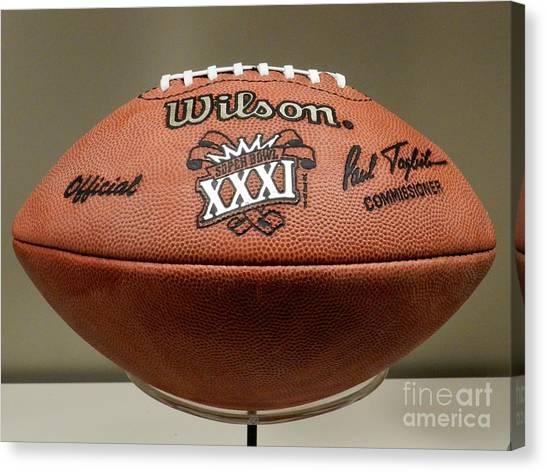 Reggie White Canvas Print - Super Bowl Xxxi Football by Snapshot Studio