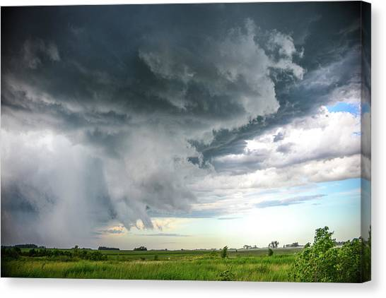 Super Cell Over Otter Tail County Canvas Print