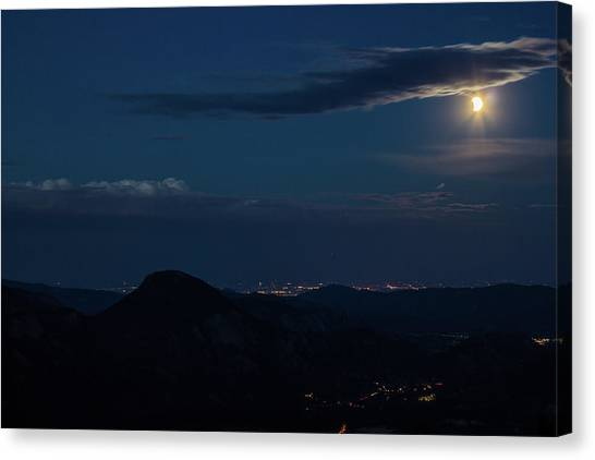Super Moon Eclipse Canvas Print