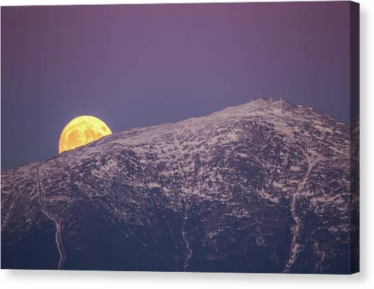 Super Moon Rising Canvas Print