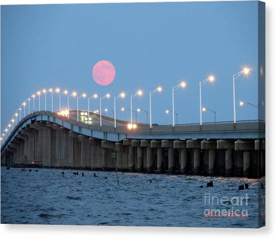 Canvas Print featuring the photograph Super Moon  by Robert Henne