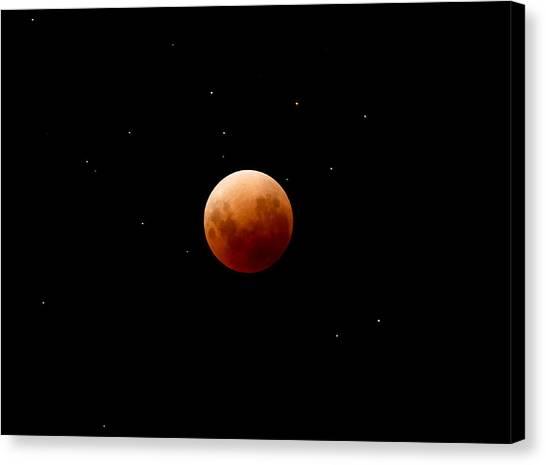 Super Red Blue Moon Eclipse Canvas Print