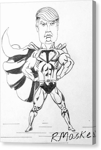 Obamacare Canvas Print - Super Trump by Randy Maske