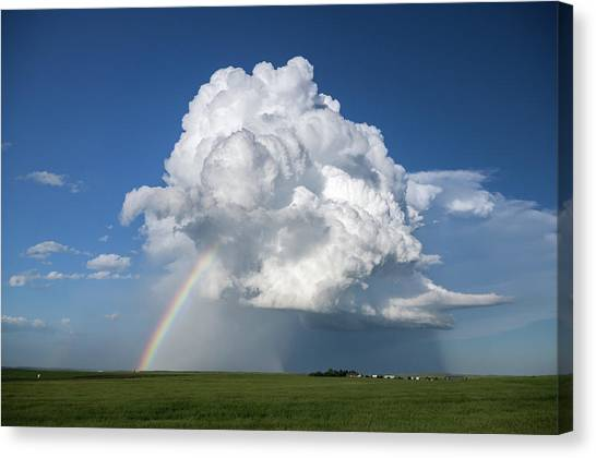Supercell Rainbow Canvas Print by James Hammett