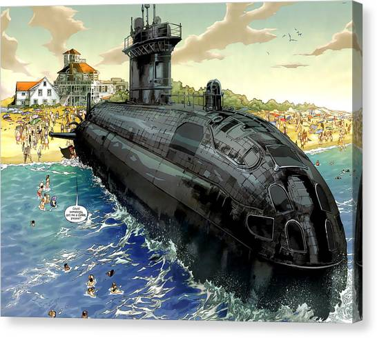 Submarine Canvas Print - Superior by Maye Loeser