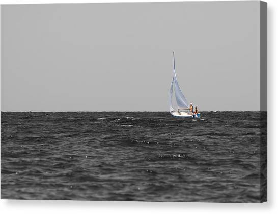 Canvas Print featuring the photograph Superior Sailing by Dylan Punke