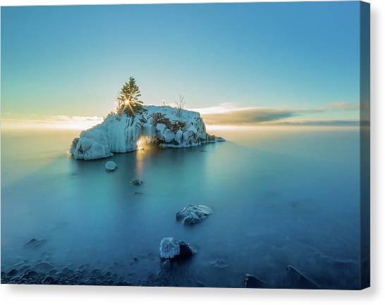 Superior Sunrise // North Shore, Lake Superior  Canvas Print