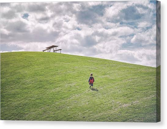 Imaginative Canvas Print - Superman And The Big Hill by Scott Norris