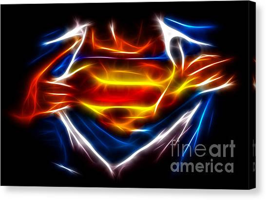 Fractal Canvas Print - Superman by Pamela Johnson