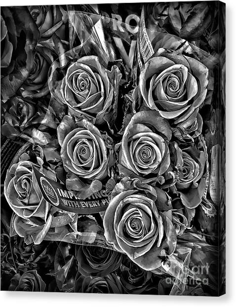 Grocery Store Canvas Print - Supermarket Roses by Walt Foegelle