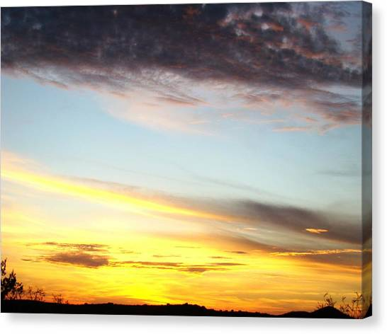 Supernatural Sunset One Canvas Print by Ana Villaronga