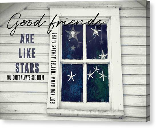 Superstars Quote Canvas Print by JAMART Photography