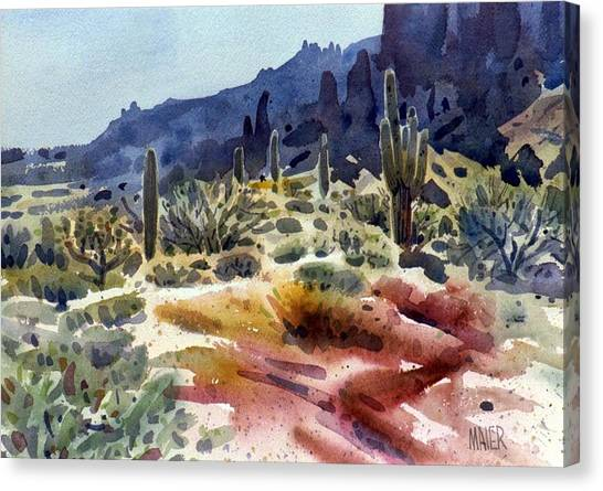 Superstition Mountain Canvas Print by Donald Maier