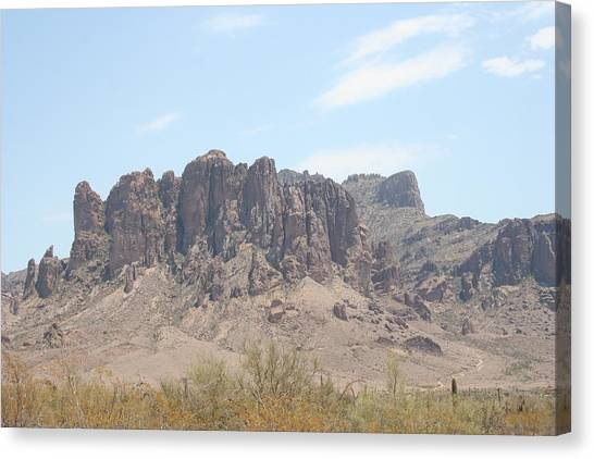 Superstition Mountain Canvas Print by Gregory Jeffries