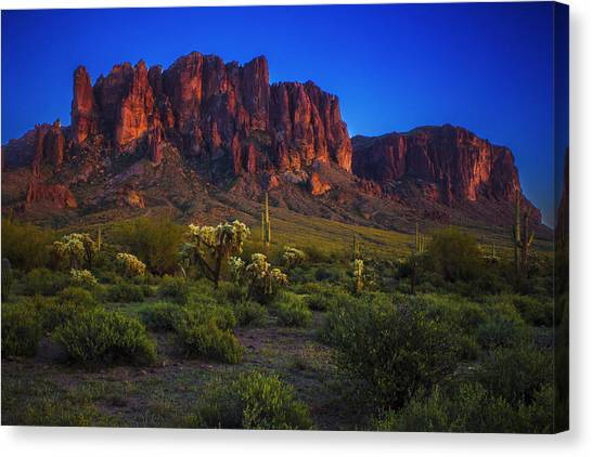 Superstition Mountain Sunset Canvas Print