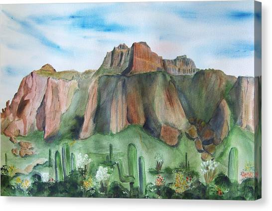 Superstition Mountain Canvas Print by Vivian Larson