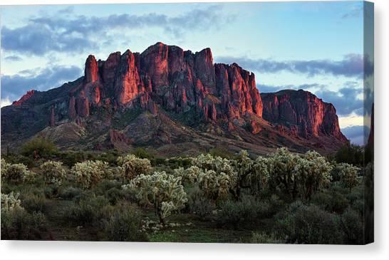 Superstition Mountains Colors Canvas Print