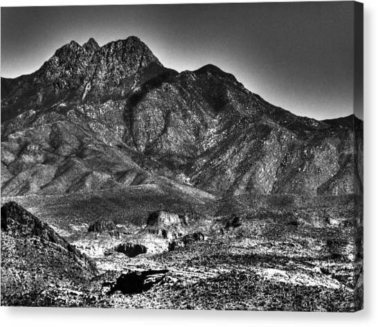 Four Peaks From Lost Dutchman State Park Canvas Print
