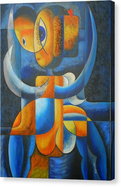 Suplication Canvas Print by Marta Giraldo