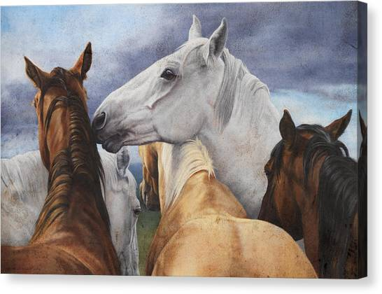 Horse Farms Canvas Print - Support Group by JQ Licensing