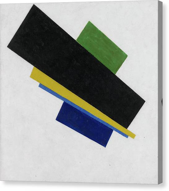 Suprematism Canvas Print - Suprematism, 18th Construction by Kazimir Malevich