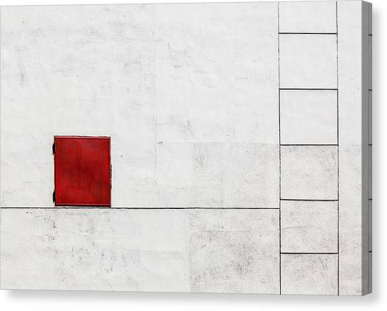 Red Door Canvas Print - Suprematism Is All Around by Ksenia Voeykova