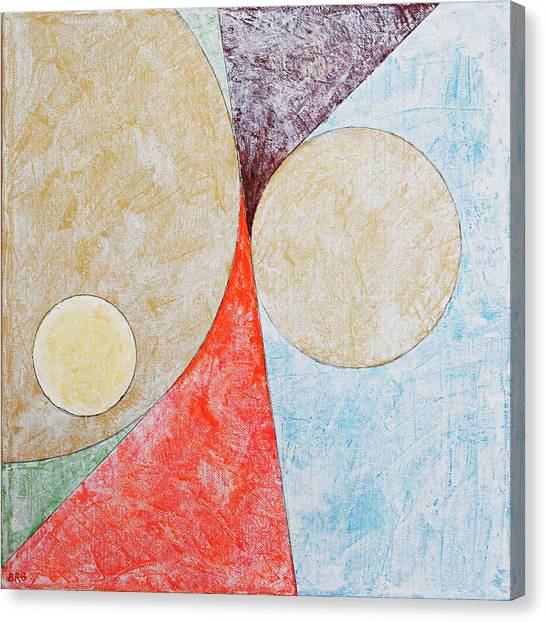 Suprematism Canvas Print - Suprematist Composition No 2 With A Circle by Ben Gertsberg