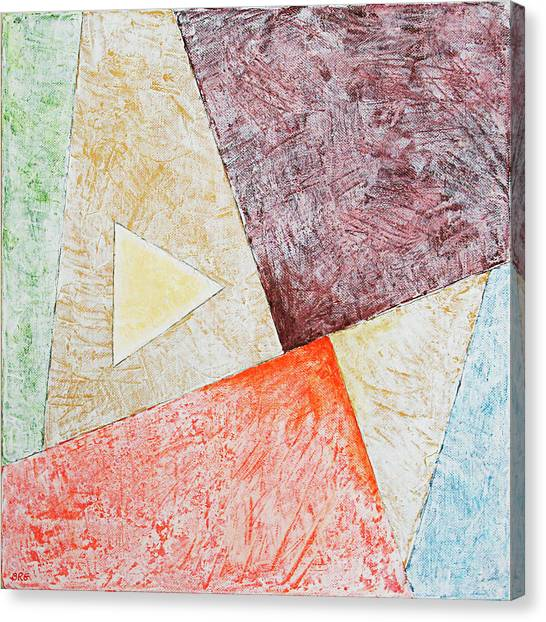 Suprematism Canvas Print - Suprematist Composition No 3 With A Triangle by Ben Gertsberg