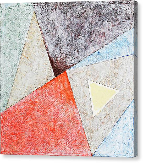 Suprematism Canvas Print - Suprematist Composition No 4 With A Triangle by Ben Gertsberg