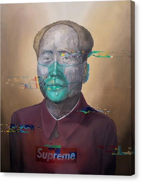 Canvas Print featuring the painting Supreme by Obie Platon