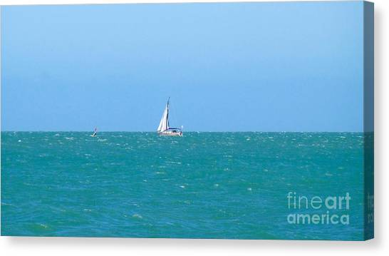 Surf And Sail The Sea Canvas Print